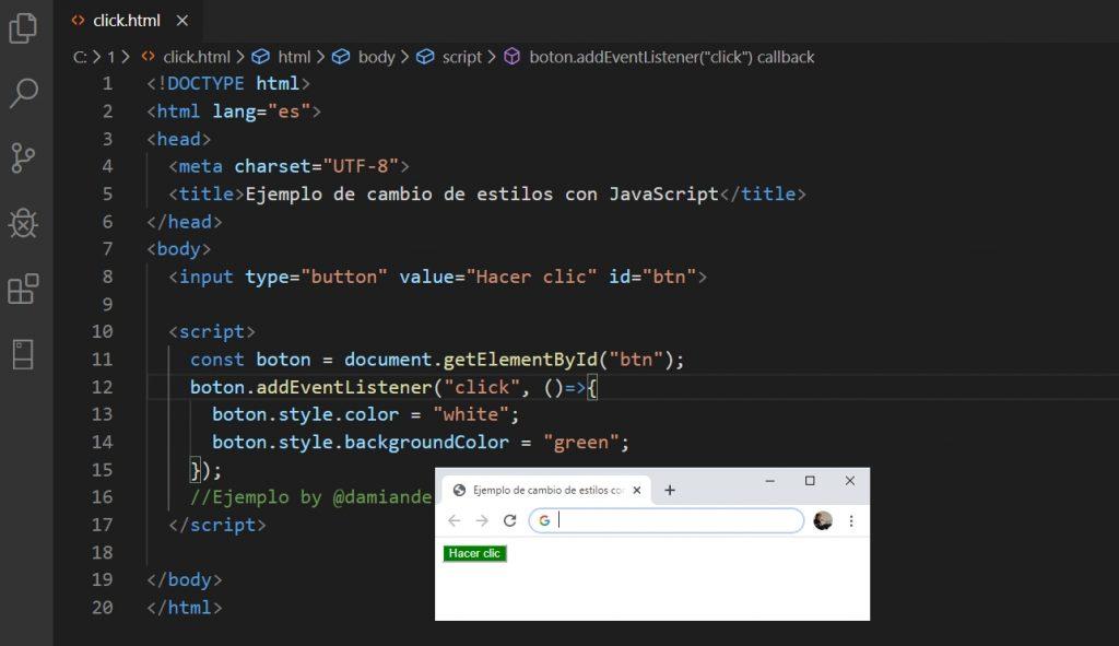 Estilos con JavaScript