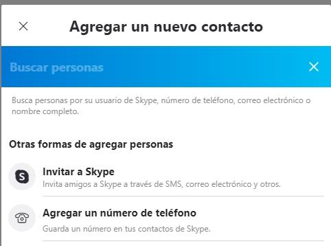 Agregar contactos Skype